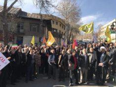 راهپیمایی در شهرستان دماوند